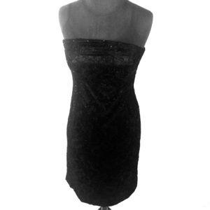 White House black market black sequins strapless 8